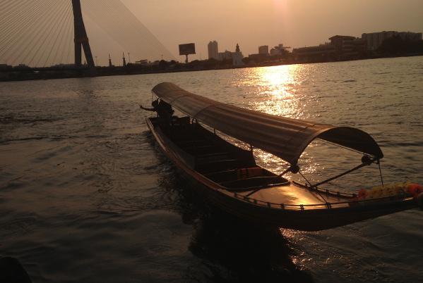 bangkok-riviere-coucher-de-soleil