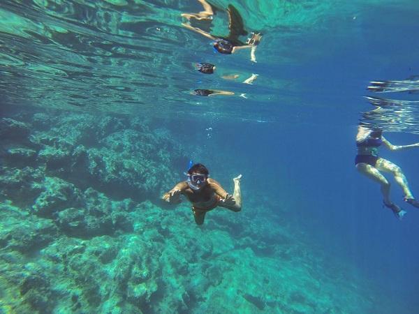 yoga snorkeling