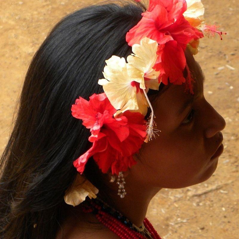 A Darien une indienne Embera en croisière au Costa Rica avec Via Dream