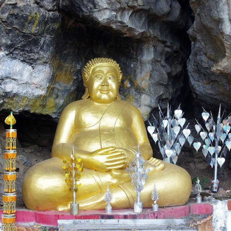 Un bouddha des grottes de Pak Ou en croisière au Laos avec Via Dream