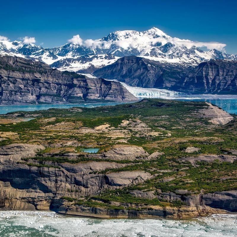 Paysage du Detroit Icy en croisière Alaska de Via Dream